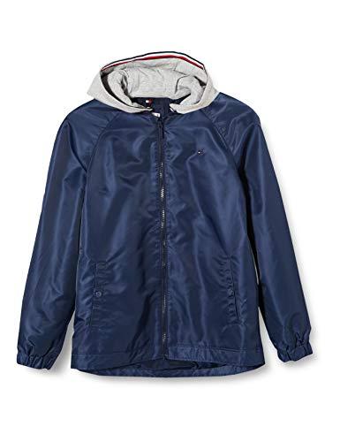 Tommy Hilfiger Mädchen Essential Tommy Flag Jacket Jacke, Blau (Twilight Navy C87), 6-7 Jahre...