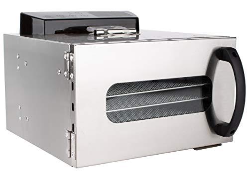 Beeketal 'BDA-6' Dörrautomat aus Edelstahl mit 6 Etagen, Zeitschaltuhr (max. 24h), einstellbarer Temperatur...