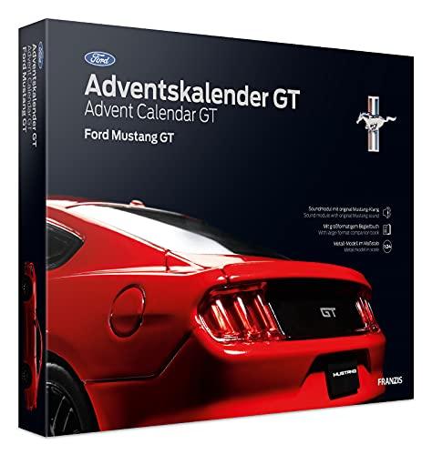 FRANZIS 55111 - Ford Mustang GT Adventskalender 2021, in 24 Schritten zur amerikanischen V8-Ikone unterm...