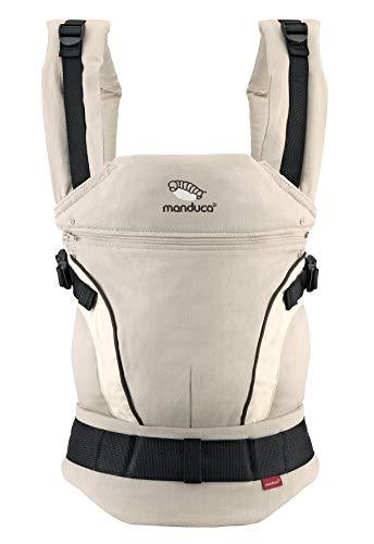 manduca First Baby Carrier  HempCotton sand  Babytrage aus weichem Canvas (Hanf & Bio-Baumwolle)...