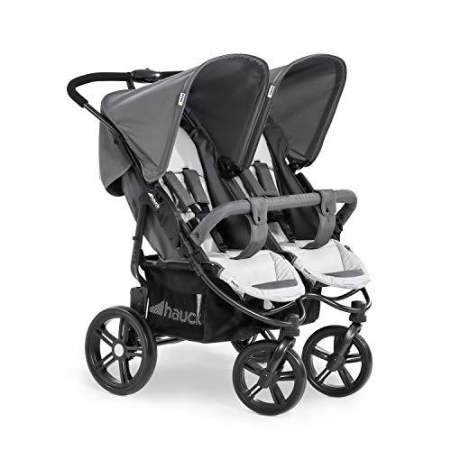 Hauck Roadster Duo SLX Geschwister- und Zwillingskinderwagen bis 36 kg für Babys und Kleinkinder ab Geburt,...