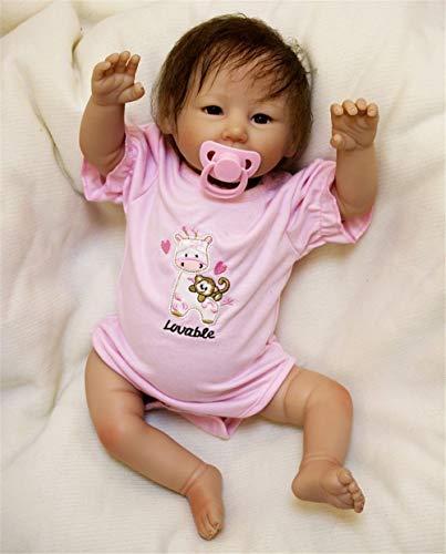 ZIYIUI Reborn Babys mädchen 50cm lebensecht silikon Puppe Girl Wie EIN echtes babypuppe Magnetisches...