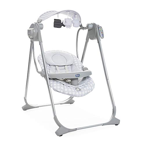 Chicco Polly Swing Up Elektronische Babywippe von Geburt bis 9 Kg, Verstellbare Babyschaukel und Automatische...
