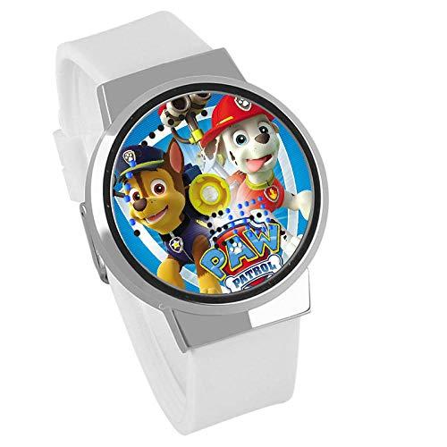 Anime, Pfotenpatrouille Schneerutsche Serie, LED-Uhr wasserdichte analoge Quarzuhr Edelstahl Lederarmband Uhr...