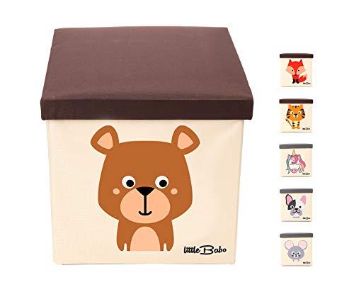 little Babo Kinder Aufbewahrungsbox I Spielzeugkiste mit Deckel für Kinderzimmer I Spielzeug Box (33x33x33)...