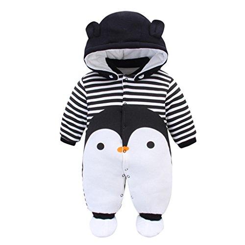 Baby Overall Mit Kapuze Footies Strampler Schneeanzüge Karikatur Jumpsuit Unisex Winter Kleidungsset, 6-9...