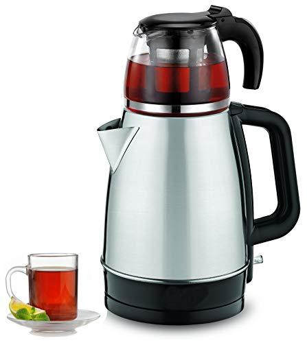 Teekocher | 100% BPA-Frei | 2200 Watt | Überhitzungsschutz | Kalkfilter | Sicherheitsglas | Teemaschine |...