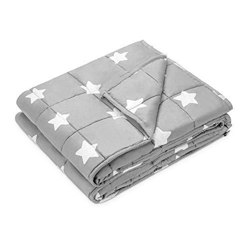 Navaris Gewichtsdecke 135x200 cm 4,8 kg - Bezug aus Baumwolle - 7 Schichten - Decke schwere Bettdecke -...