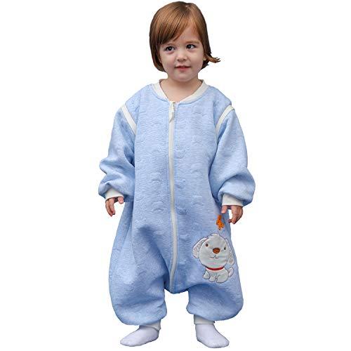 Schläfsack baby langarm winter kinderSchlafsack,Hund Muster Baby Schlafsack mit Füßen Baumwolle Junge...