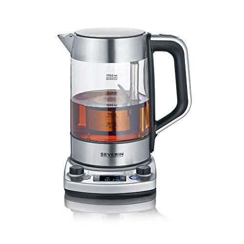 """SEVERIN Tea Maker """"Professional"""" mit Auto-Liftfunktion, Glaswasserkocher für bis zu 1,7 L, elektrischer..."""