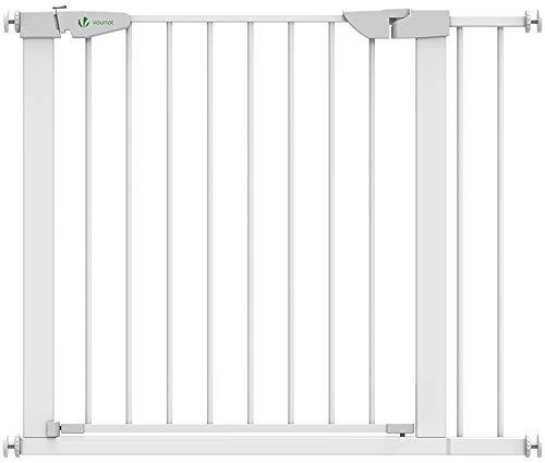 VOUNOT Treppenschutzgitter 76–96cm, ohne Bohren, Türschutzgitter für Kinder, Hunde und Katzen, Auto-Close...