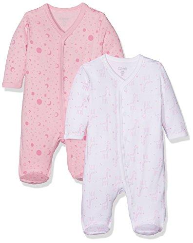 Care Baby-Mädchen Schlafstrampler, 2er Pack, Mehrfarbig (Fairy Rose 409), 0 - 3 Monate (Herstellergröße: 50...