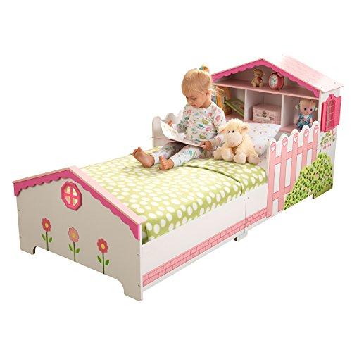 KidKraft 76255 Kinderbett im Puppenhaus-Stil aus Holz für Kleinkinder Möbel für Kinderzimmer