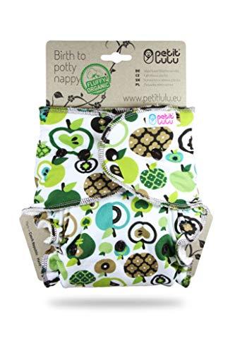 Petit Lulu One Size Höschenwindel (4-15 kg) Druckknöpfe | Fluffy Organic | Bambus natürliche...