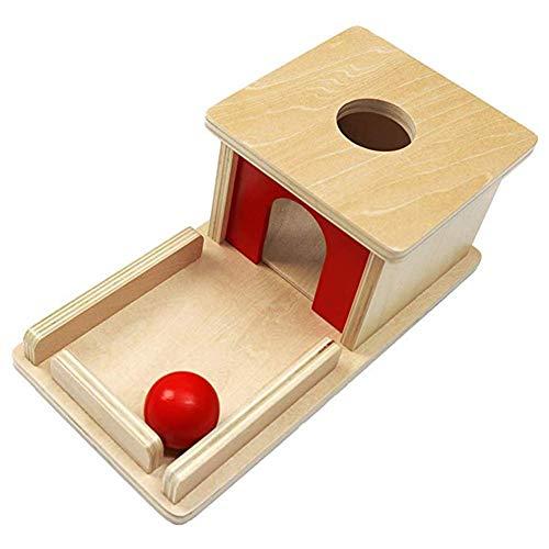 Schildeng Permanent Ziel Box Kinder Lernspielzeug Montessori Holz Ball Matching Box Pädagogik Spielzeug für...