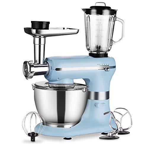 Küchenmaschine - 1200W 3 in 1 Elektrischer maschine - mit 5,0 Liter Schüssel in Lebensmittelqualität,...