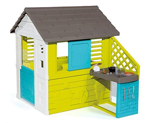 Smoby – Pretty Haus - Spielhaus für Kinder für drinnen und draußen, mit Küche und Küchenspielzeug (17...