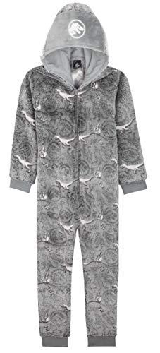 Jurassic World Jumpsuit Kinder, Dinosaur Onesie Kinder, Einteiler Fleece Overall, Leuchtet im Dunkeln Kostüm...