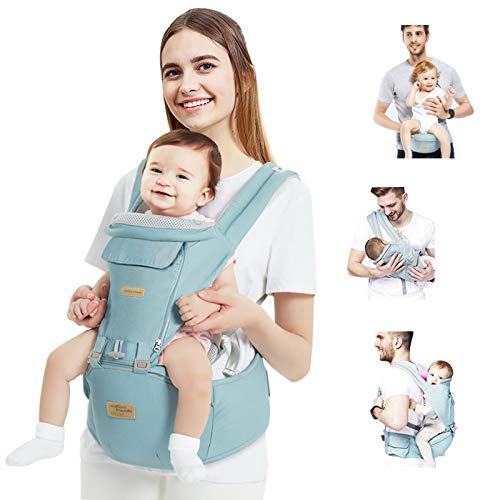 TOPERSUN Babytrage All In One Kindertrage Bauchtrage 12 Positionen Rückentrage Ergonomische Babytragetasche...