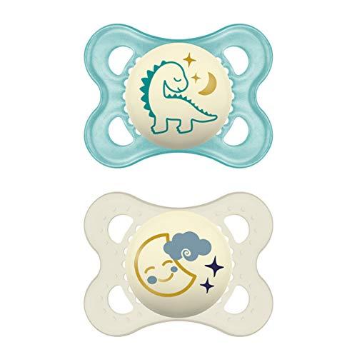 MAM Night Schnuller im Doppelpack, leuchtender Baby Schnuller, besonders weicher Baby Schnuller für schnelle...