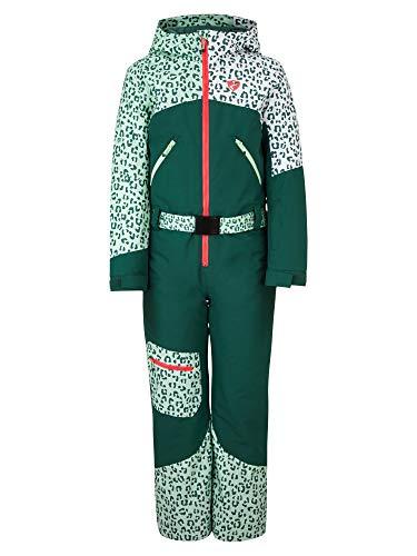 Ziener Mädchen ALKANA Junior Kinder Schneeanzug/Skioverall | Wasserdicht, Winddicht, Warm, Spruce Green, 152