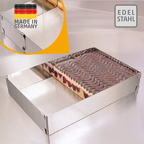 Backrahmen – Edelstahl, Made in Germany - Backrahmen rechteckig verstellbar, mit Klammern zu fixieren –...