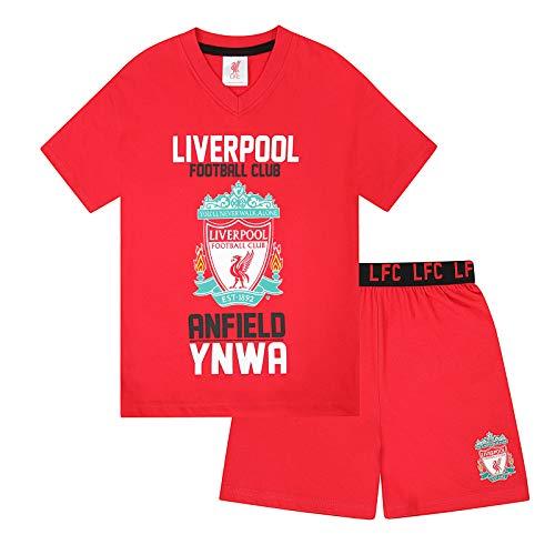 Liverpool FC - Kinder Schlafanzug-Shorty - Offizielles Merchandise - Geschenk für Fußballfans - Rot - 12-13...