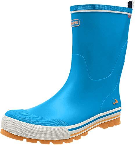 viking Unisex-Kinder Jolly Gummistiefel, Blau (Blue/Orange 3531), 33 EU