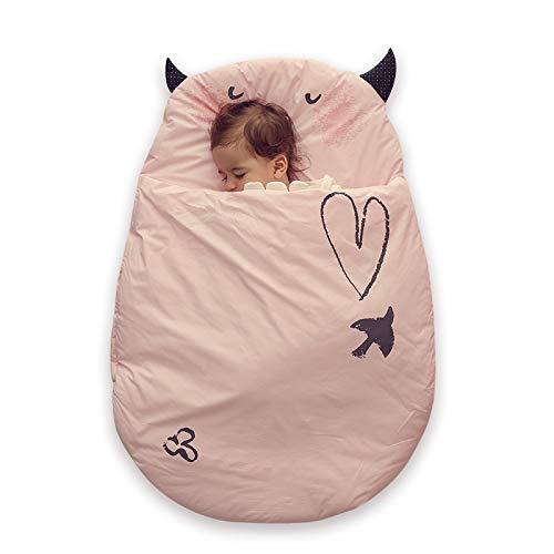 Bebamour Anti Kick Babyschlafsack Safe Nights Cotton Babyschlafsack 2.5 Tog 0-18 Monate und älter Cute Infant...