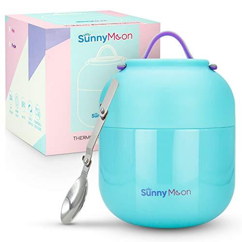 SunnyMoon® Thermobehälter für Essen - 500 ml - hält Ihr Essen 12 Stunden lang warm/kalt - Thermo Lunchbox...