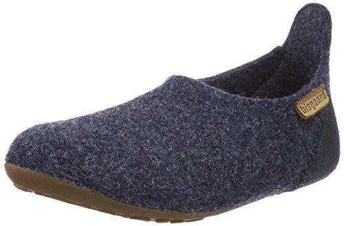 Bisgaard Unisex-Kinder Wool Basic Slipper, Blau (20 Blue), 35 EU