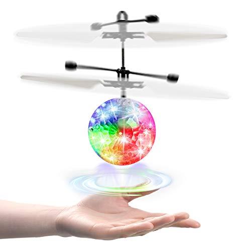UTTORA RC Fliegender Ball Kinder Spielzeug,Schuzbrille und Fernbedienung LED RC Flugzeug Helikopter mit...