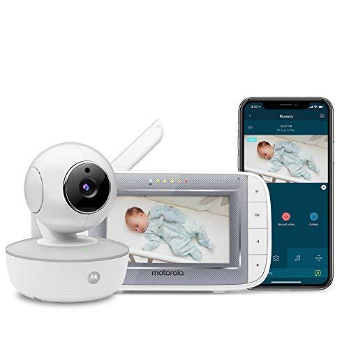 Motorola MBP846CONNECT Video-Babyphone mit 10,9 cm (4,3 Zoll) Handheld-Einheit und WLAN-Hubble-App für...