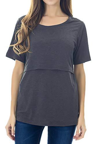 Smallshow Stillshirt Umstandstop T-Shirt Umstandsmode Umstandsshirt Schwangerschaft Kleidung Mutterschafts...