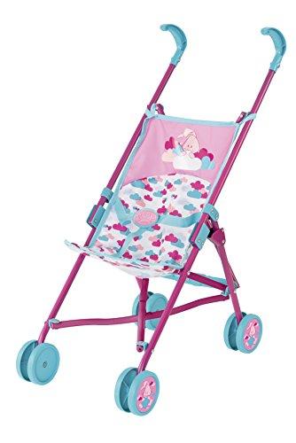 Zapf Creation 824177 Baby Born Puppenwagen, Petrol/rosa