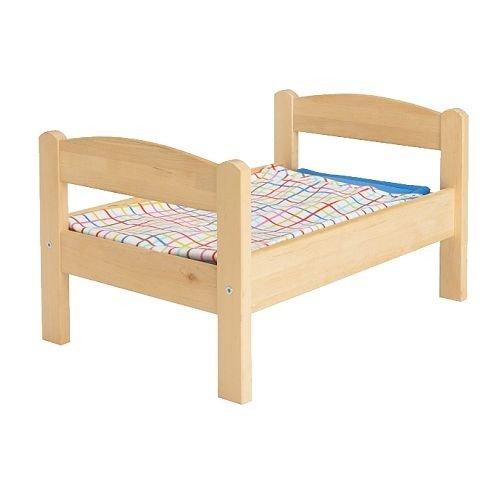 IKEA DUKTIG Puppenbett mit Bettset aus Kiefer