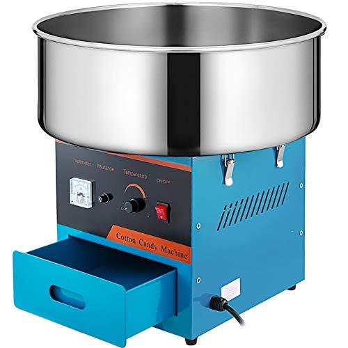 BuoQua 1000W Zuckerwattemaschine Rot Cotton Candy Machine Zuckerwatten Maschine für Zuhause ohne Wagen