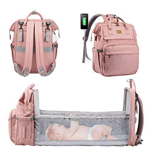 LOVEVOOK Wickelrucksack Rucksack Wickeltasche Groß Baby Tasche für Mama Mommy Bag Diaper Bag Babytaschen mit...