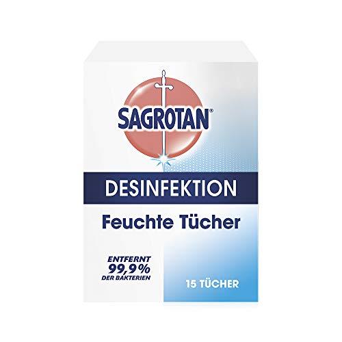 Sagrotan Feuchte Tücher zur Desinfektion – In praktischer Reisegröße für die schnelle hygienische...
