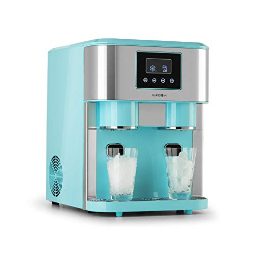 Klarstein Eiszeit Crush Eiswürfelmaschine, 3-in-1: Eiswürfel, Crushed-Eis, Eiswasser, 2 Eiswürfelgrößen,...