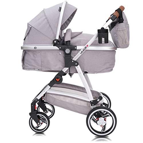 Lalalux Babyboomer leichter Kombikinderwagen Komplettset, Multifunktions-Kinderwagen, klappbar, sportlich,...