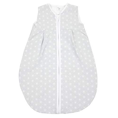 TupTam Baby Sommer Schlafsack Ärmellos Unwattiert, Farbe: Rosette Grau, Größe: 104-110