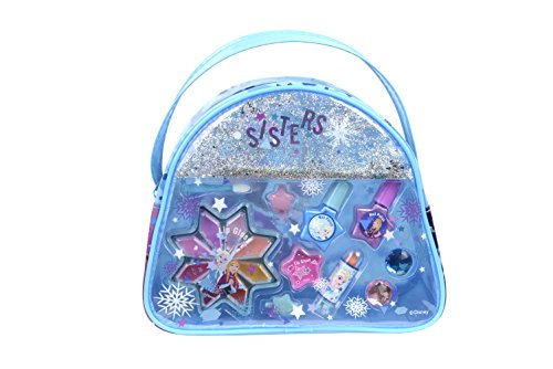 Markwins Frozen Snow Magic Beauty Tasche enthält Kinderschminke, Ringe und Haarclips im Anna & Elsa-Design