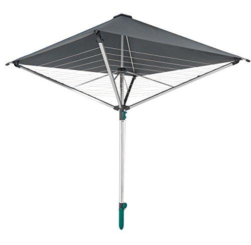 Leifheit Wäscheschirm LinoProtect 400 mit wasserdichtem Dach, Wäschespinne verlängert die...