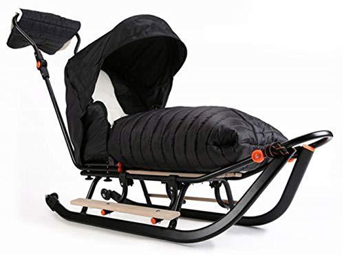 Premium LINE Plus Kinderschlitten Babyschlitten, Fußsack - 3-in-1- Kinderschlitten mit Rädern und Muff -...