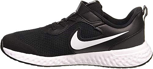 Nike Revolution 5 (PSV) Running Shoe, Black/White-Anthracite, 34 EU