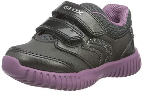 Geox Baby-Mädchen B Waviness Girl A Sneaker, (Dark Grey), 24 EU