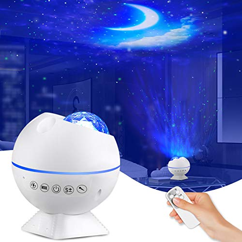 mixigoo LED Projektor Sternenhimmel Lampe mit Fernbedienung/Sprachsteuerungsmodus Sternenlicht Projektor...