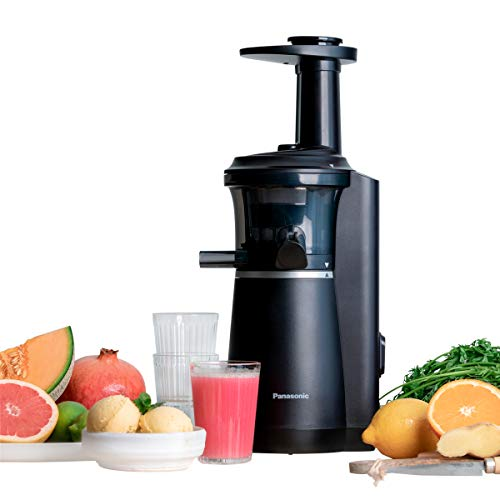 Panasonic Slow Juicer MJ-L501KXE Entsafter (Entsafter für Obst/Gemüse, Saftpresse, Sorbet Herstellung,...