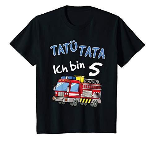 Kinder T-Shirt 5. Geburtstag Jungen Feuerwehrauto 5 Jahre Shirt T-Shirt
